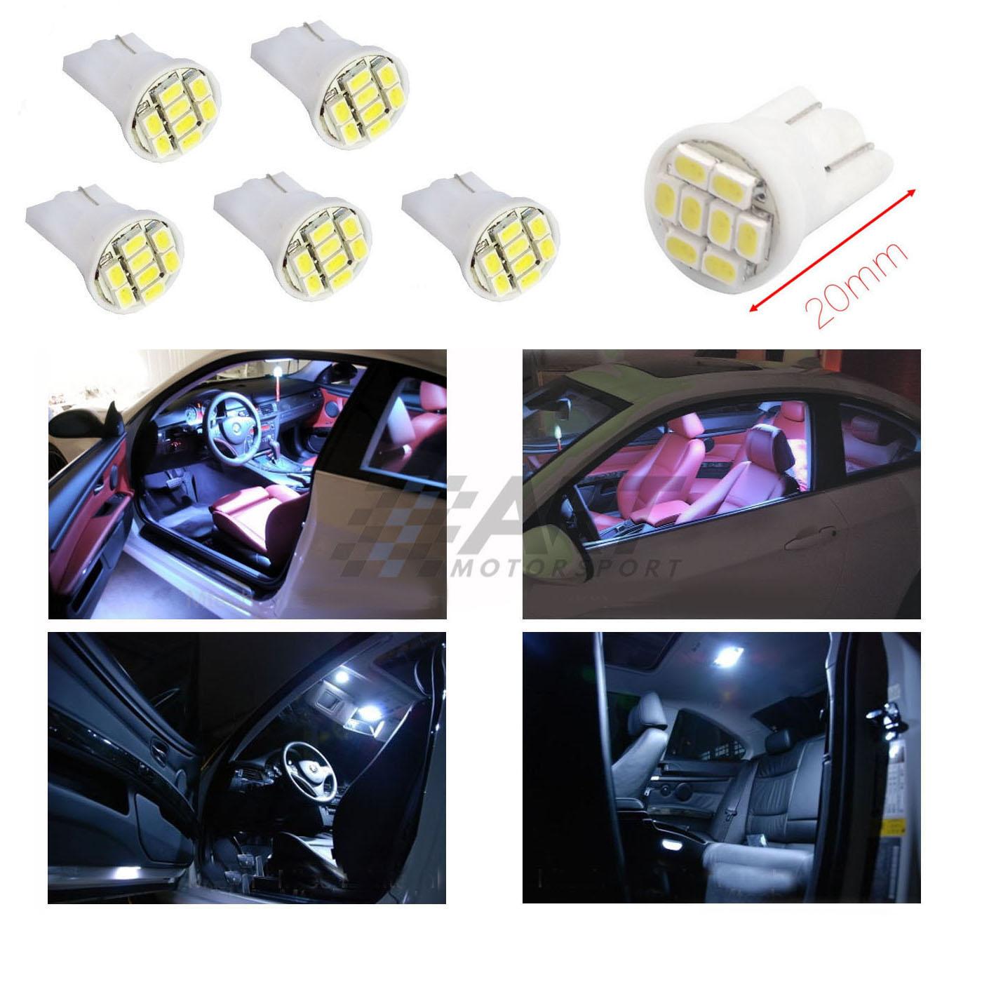 Bombillas T10 led con iluminación blanco frío para Bmw E34 E39 para interior
