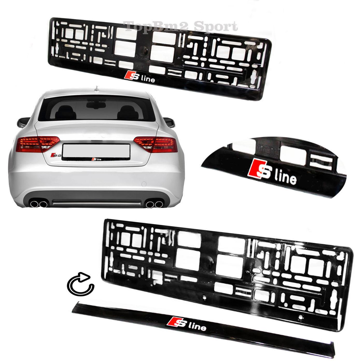 Kennzeichenhalter für Audi S-Line A1 A3 A4 A5 A6 Q2 Q3 Q5 Q7 TT ...